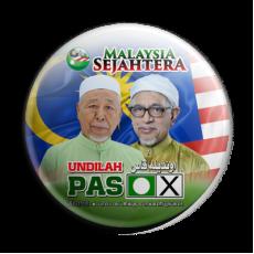 Button Badge 'Malaysia Sejahtera - Undilah PAS'