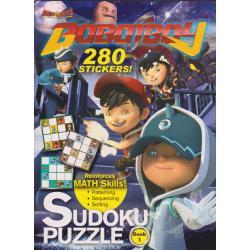 Boboiboy 280 stickers: Sudoku Puzzle Book 1